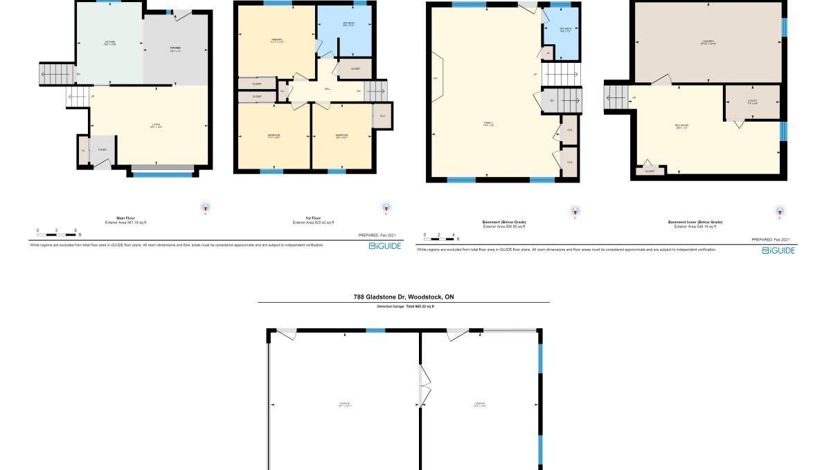 Gladstone Floor plans